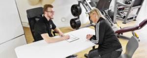 TSC Fitness Unterhaching Fitnessstudio Trainingsbetreuung persönliche Betreuung der Studio Mitglieder
